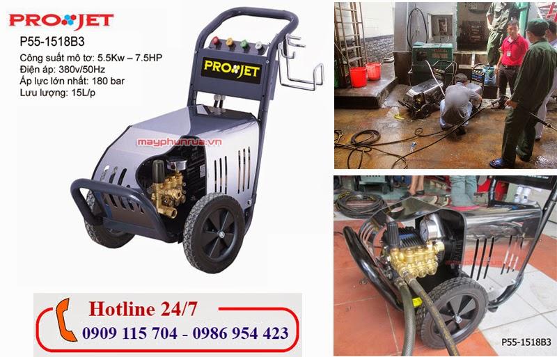 máy phun rửa công nghiệp projet