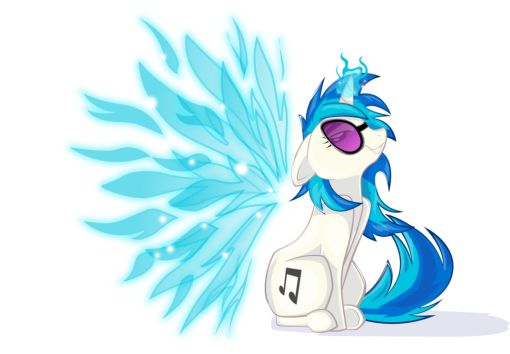 Now please excuse me, Angelic Wings Vinyl Scratch