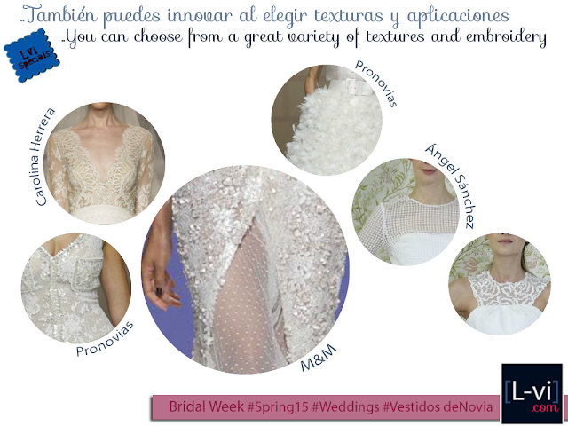 [SS15] Bridal dresses:Textures and embroidery./ Vestidos de novia: texturas y aplicaciones. L-vi.com