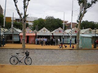 feria, casetas, bicycle