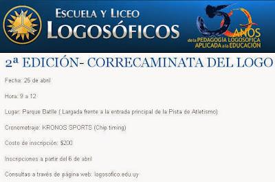 Correcaminata Colegio y liceo Logosófico (2a.ed.; parque Batlle, 25/abr/2015)