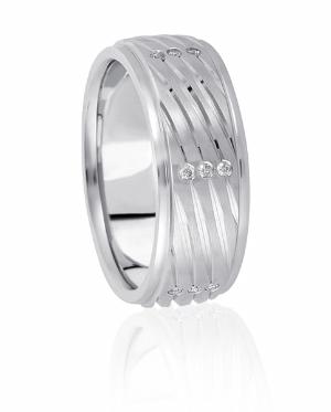 His And Hers Wedding Rings Diamonds Platinum Wedding