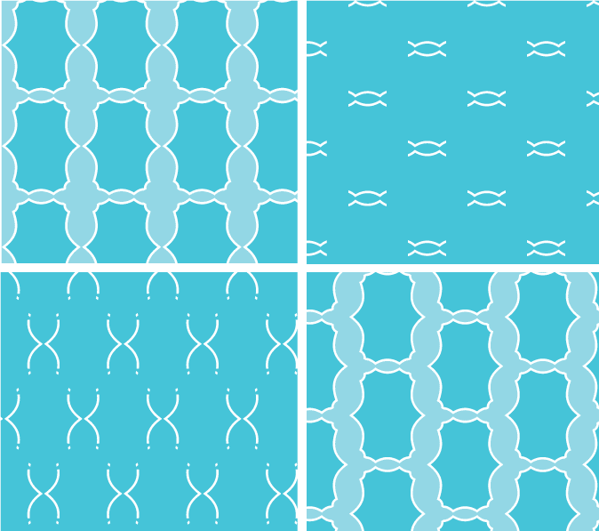365 Patterns:  Blue Design options