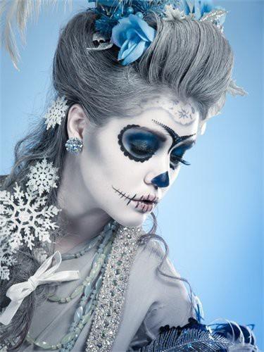 maquillaje dama antigua