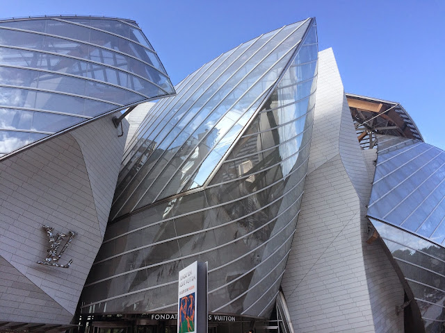 Exterior of the Fondation Louis Vuitton, Paris