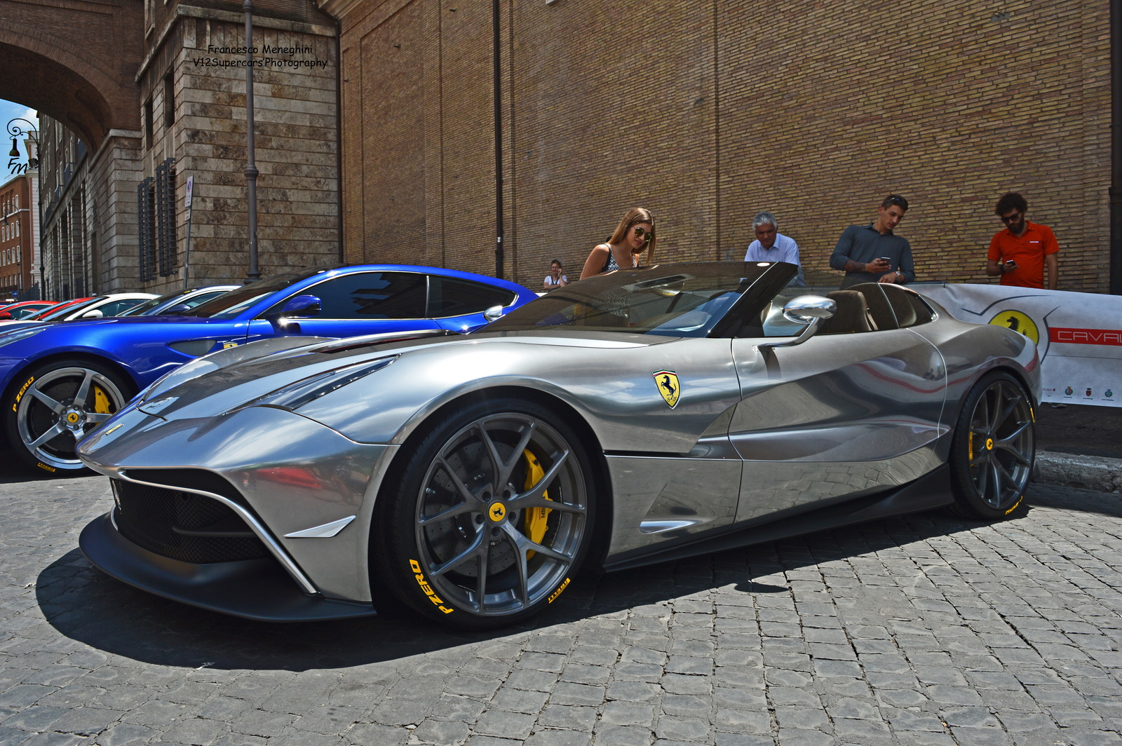 Unique Chrome-Silver Ferrari F12 TRS Spotted In Rome ...