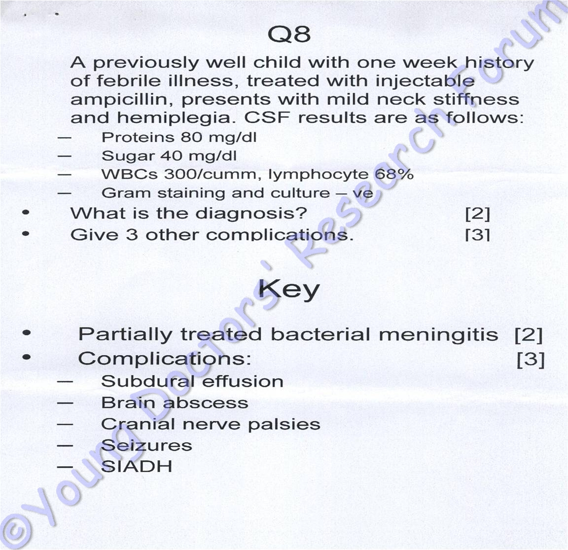 bacterial meningitis essay Bacterial meningitis is a devastating disease that is associated with substantial mortality and morbidity major causative bacteria are streptococcus pneumoniae and.