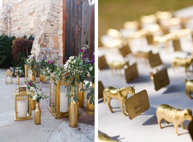 Wedding Reception Decorations Ideas Diy : Wedding-DIY-Spray-Paint-Gold-Decorations-Wedding-Ideas-BeforetheBigDay ...