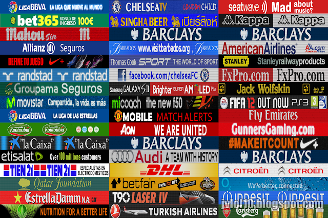 Pack Adboards La Liga  Barclays Premier League E Serie A