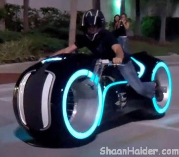 The Real Working Tron Light Bike (Video)