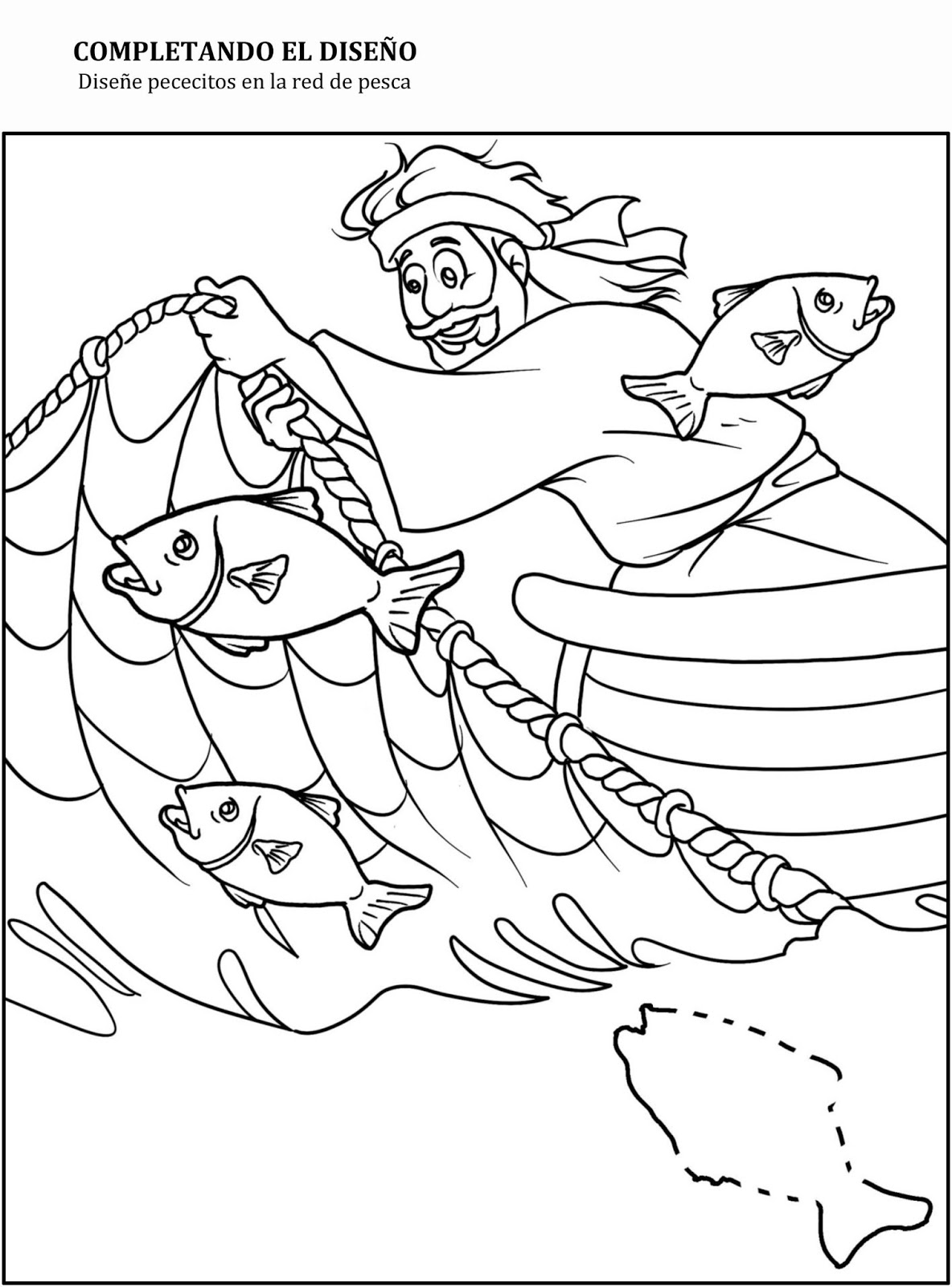 Dibujo Para Colorear Hombre Pescando picture gallery