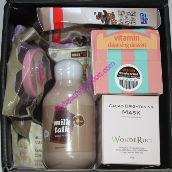 Memebox Cacao beauty box review, unboxing, photos