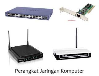 OpO ~ Perangkat jaringan komputer sepert switch, router, hub, nic.
