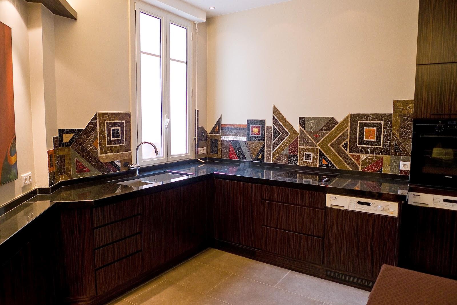 mosa ques les flocats cr dence cuisine particulier. Black Bedroom Furniture Sets. Home Design Ideas