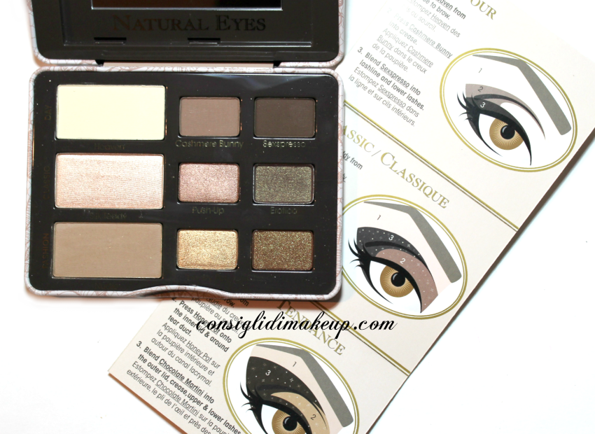 review natural eyes palette too faced