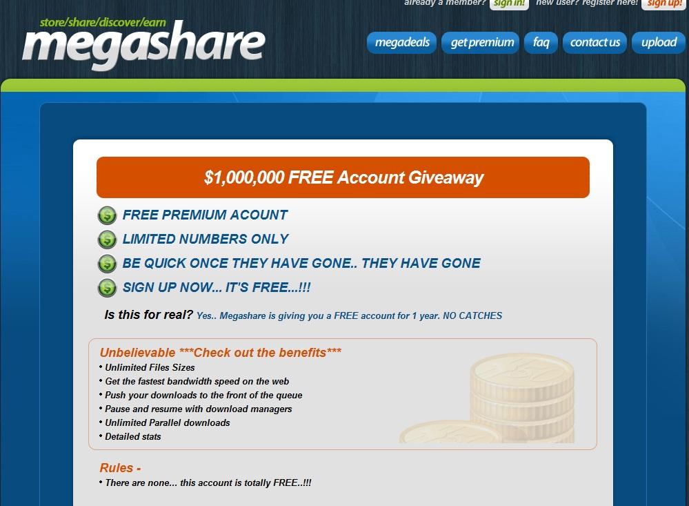 Free Full Registered Software: Megashare 1 year of premium ...: http://faheemqureshi.blogspot.com/2012/02/megashare-1-year-of-premium-accounts.html