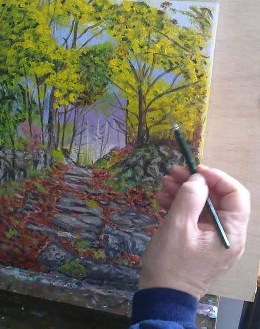 detalle del proceso de pintura