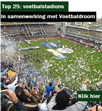 Top 25: Voetbalstadions in Europa