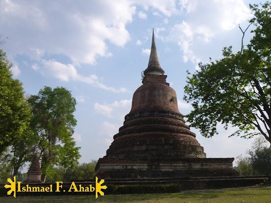 Lone pagoda in Sukhothai Historical Park