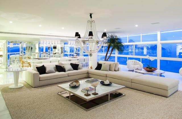 Copacabana triplex apartment in rio de janeiro brazil for The beautiful house in world