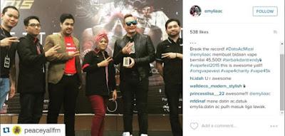 AC Mizal Berjaya Bida Mod Vape Dengan Nilai RM 45,000