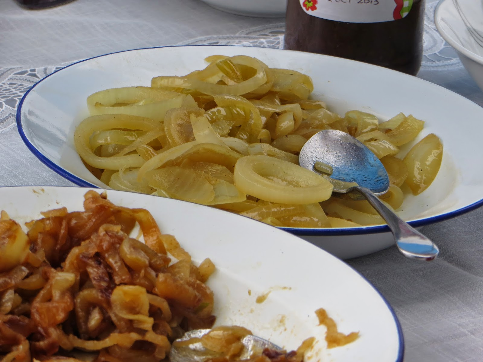 a selection of chilli and fried onions.