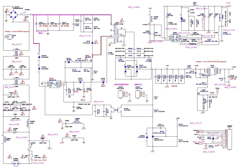 Electro Help 07 11 15 Sub 150w 8ohm Subwoofer Amplifier Circuit Board 35 150hz 2sa1943 Le32d1440 Smps Led Driver Diagram