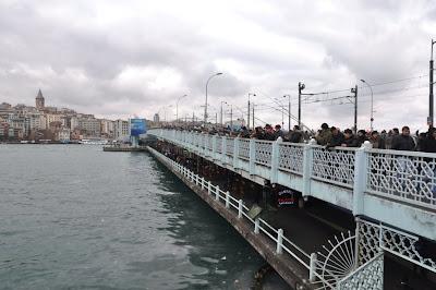 Puente de Gálata, pescadors Estambul, pescadores Estambul