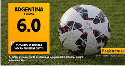 betfair Chile o Argentina super cuota 8 o 6 Final Copa America 4 julio