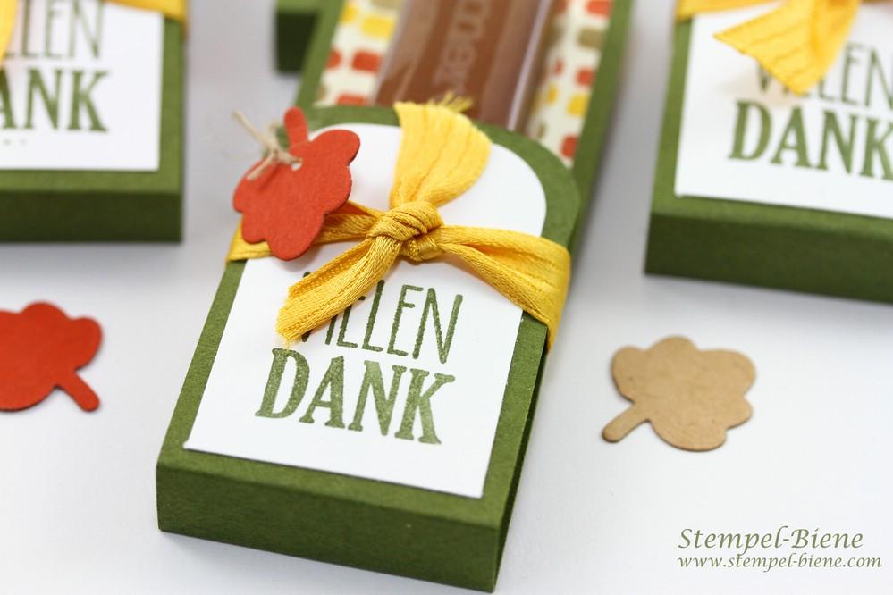 Herbstliche Schokoladenverpackungen, Stampin' Up Bunter Herbst, Stampin' Up Herbstworkshop, Stampin' Up Bestellen, Stempel-Biene