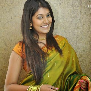 Actress Kavya Kumar Latest Cute Hot Exclusive Green Transparent Saree
