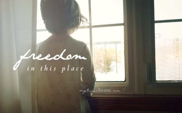 there is freedom in THIS place