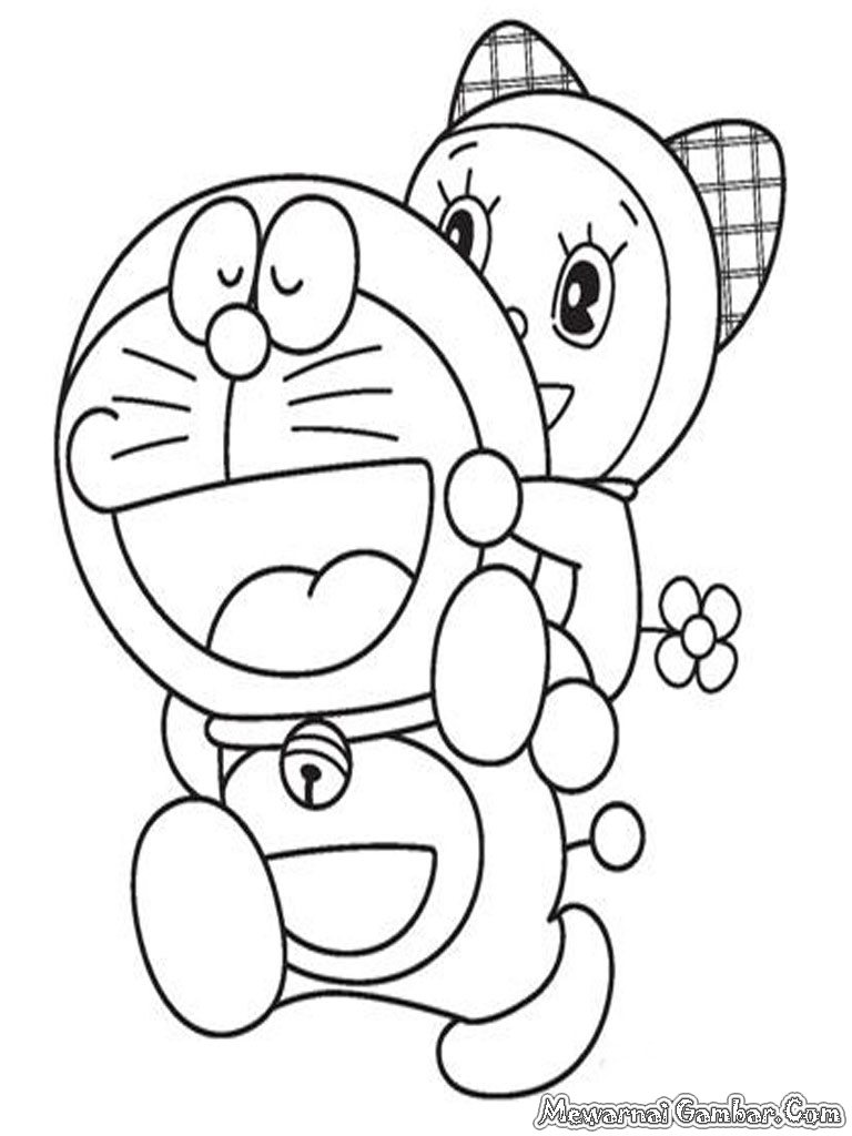 Doraemon Menggendong Adiknya Dorami