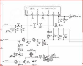 ic la78040 schematic for vertical deflection schematic knowledge rh schematiccircuits blogspot com Circuit Schematics Schematic Circuit Diagram
