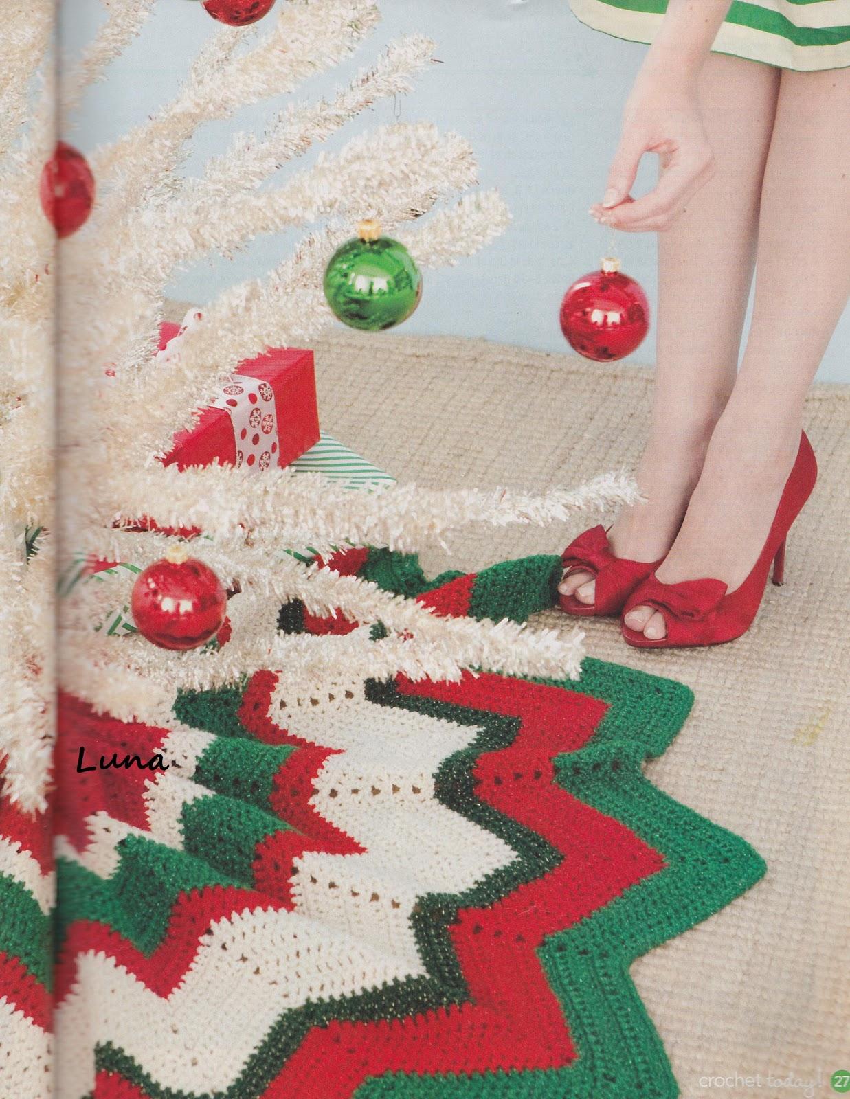 Ripples Christmas Skirt / Falda o Cubridor Navideño para Nuestro ...