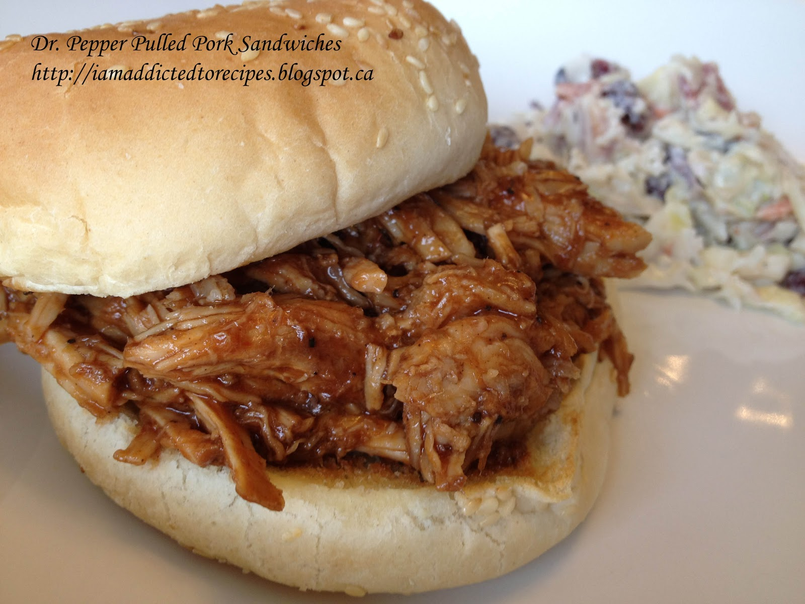 Dr. Pepper Pulled Pork Sandwiches