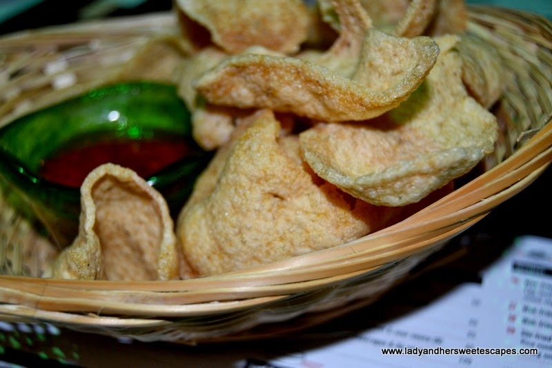 Chop Suey restaurant's prawn crackers