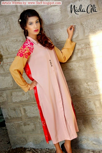 Nida Ali Winter Dress Collection 2014-2015
