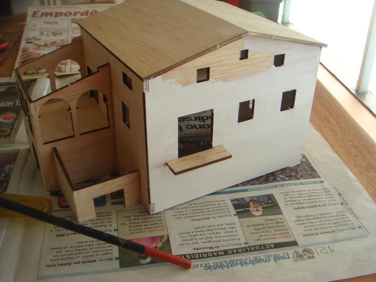 Simplementeaficiones maqueta construcci n paso a paso for Como hacer tejados de madera