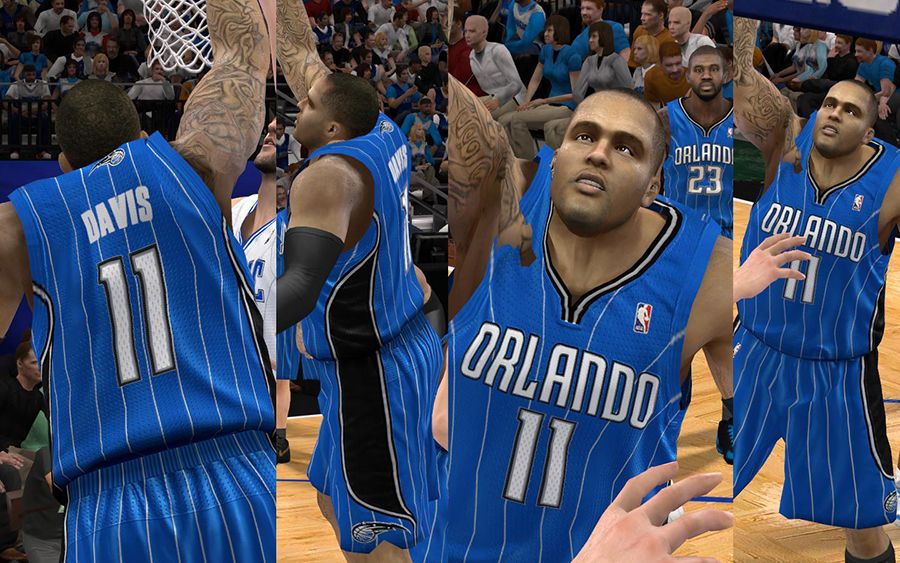 Nba 2k12 orlando magic jersey patch with hardwood classic amp crowd