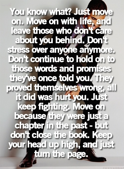 I Just Have to Move On Quotes