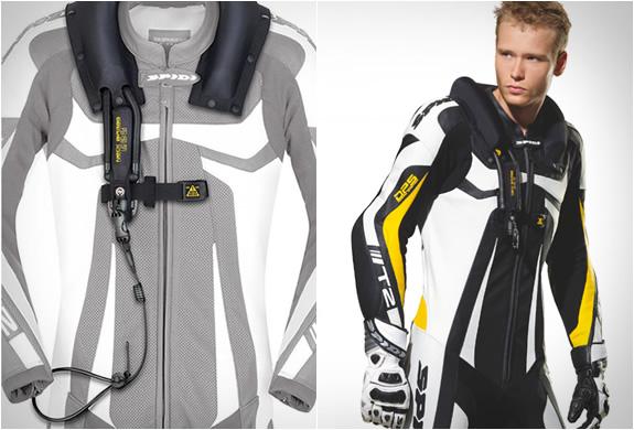 Spidi Neck DPS Air-bag Men's Textile Street Racing Motorcycle Vest - Black / Large