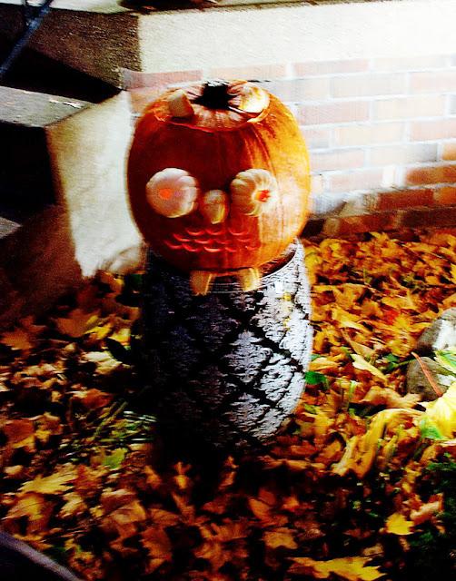 pumpkin carving idea | owl pumpkin ramblingrenovators.ca