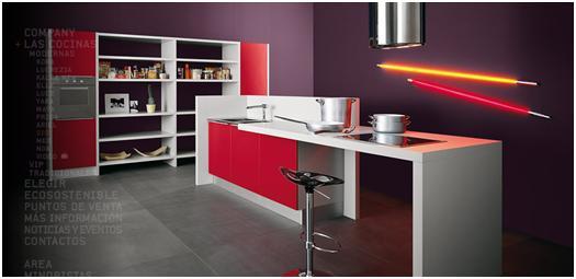 Decora y disena 10 fotos de cocinas modernas en varios - Cocinas color burdeos ...
