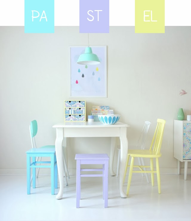 Customiser chaises couleur pastel