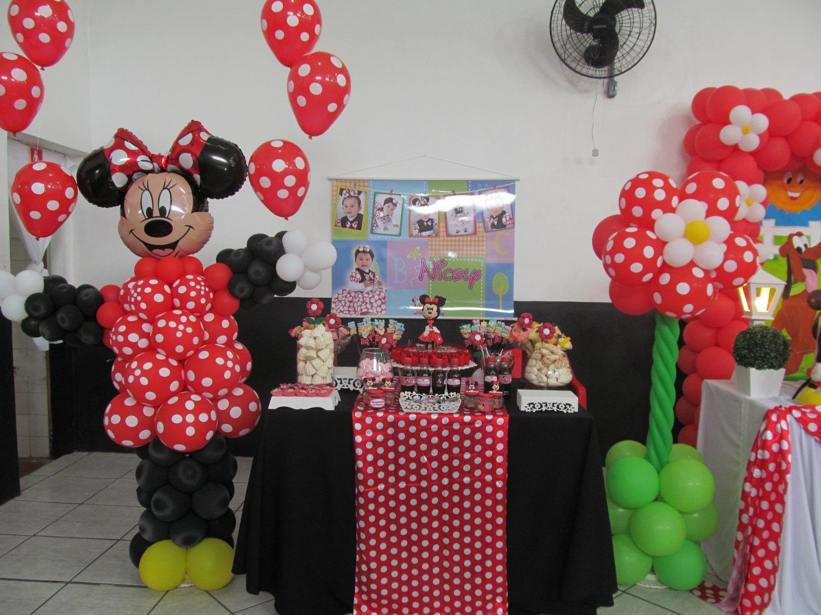 Festas e Arte com Balões  Pelotas Minnie Rosa e Minnie Vermelha
