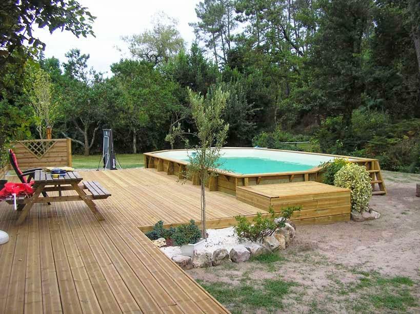 Terrasse bois et agencement de votre espace aquatique  ~ Piscine bois