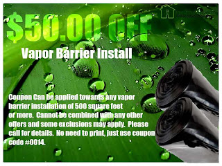 $50 off coupon for seattle wa vapor barrier install
