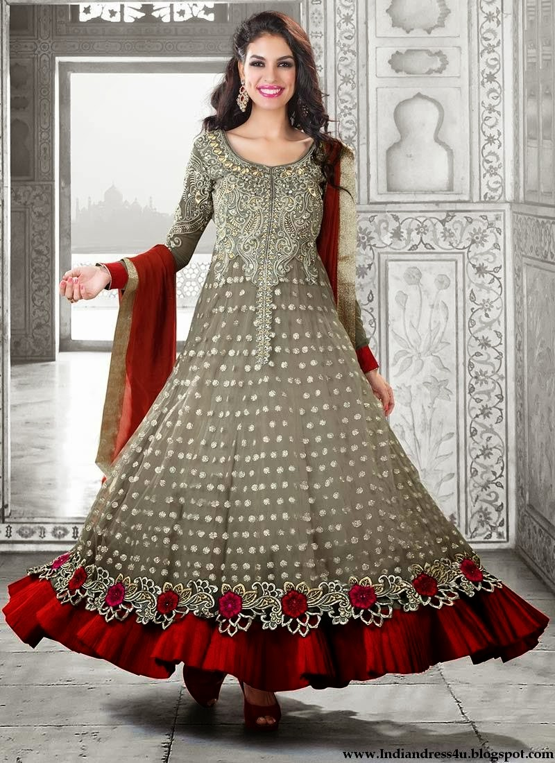 Long designer wedding anarkali dresses 2014 beautiful for Design wedding dress online