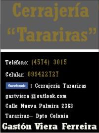 CERRAJERÍA TARARIRAS